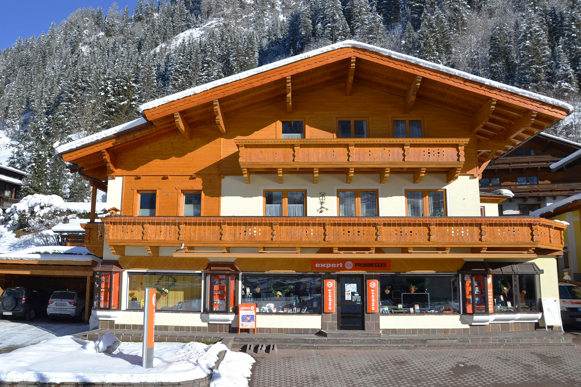 Haus außen Winter